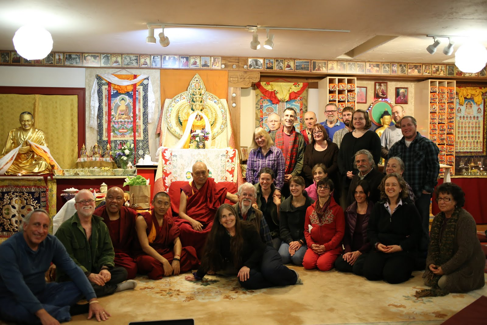 Rinpoche at Vajrapani Institute. Boulder Creek, California. November 2013. Photo by Ven. Thubten Kunsang.