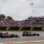 Fernando Alonso leads Jenson Button, McLaren MP4-30