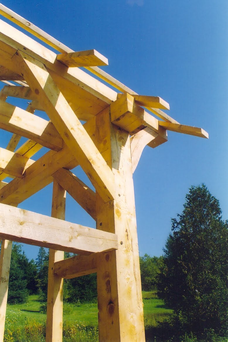 Dumby head on the end of the tie beams add exceptional strength.