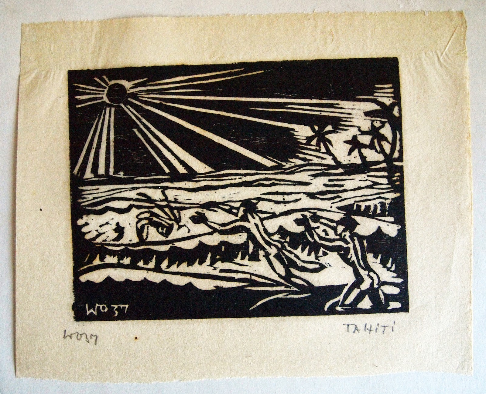 Bathers, hand print, 1937, family-owned