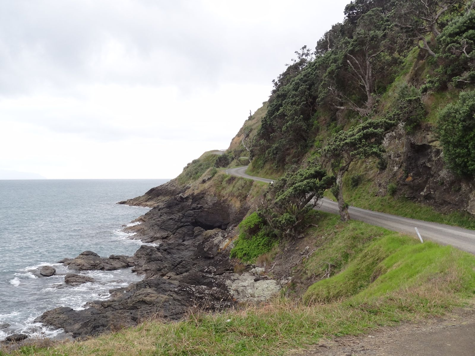 The road hugged the coast most of the way