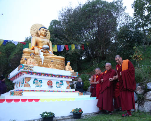Lama Zopa Rinpoche at Chandrakirti Centre, New Zealand, May 2015. Photo by Ven. Thubten Kunsang.