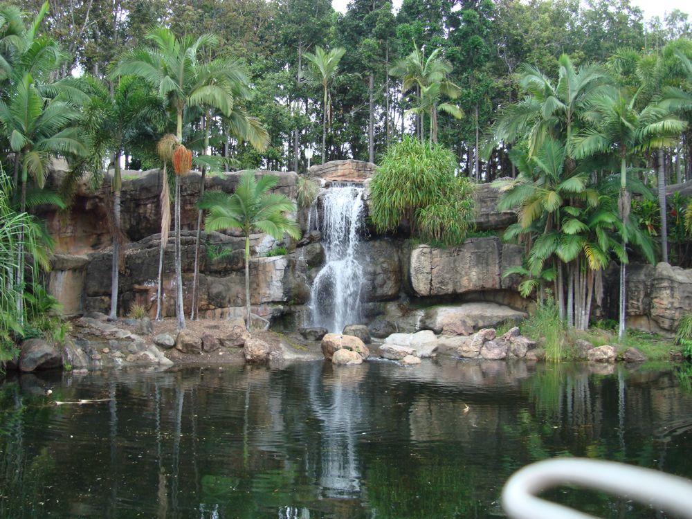 The waterfall at Kershaw gardens in Rockhampton