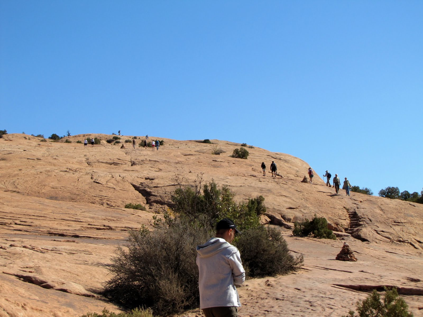 Climbing up to the Delicate Arch
