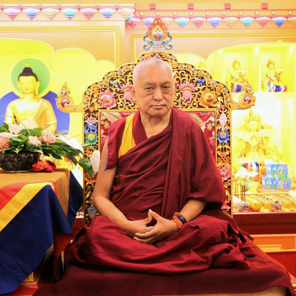 Lama Zopa Rinpoche at the Jinsiu Farlin in Taipei, Taiwan, March 2014. Photo by Ven. Thubten Kunsang.