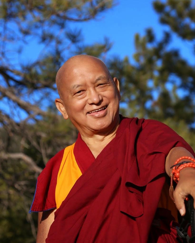 Lama Zopa Rinpoche at Buddha Amitabha Pure Land in northcentral Washington, US, April 2014. Photo by Ven. Thubten Kunsang.