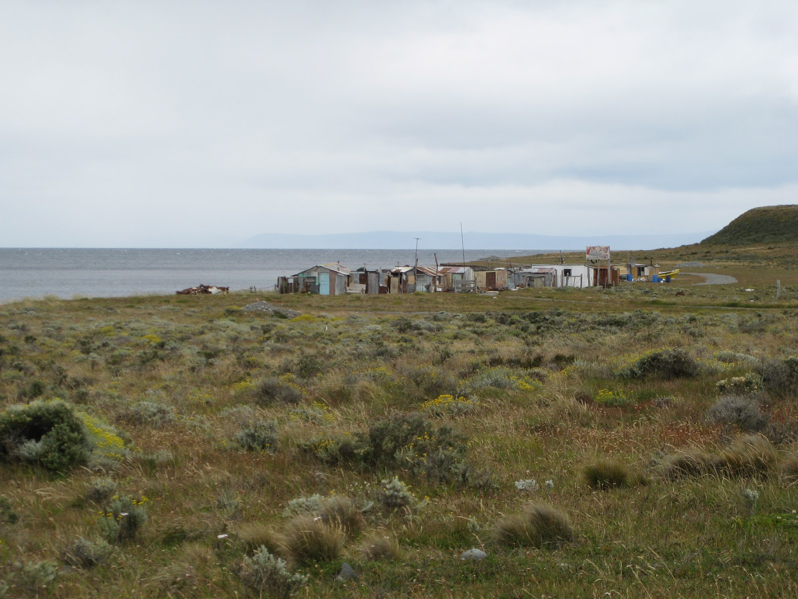 Fishing huts - hard to say if they were occupied