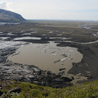 View to the south - it is clearly seen that sometimes during sub-ice volcano eruptions there are lots of water flowing into the ocean
