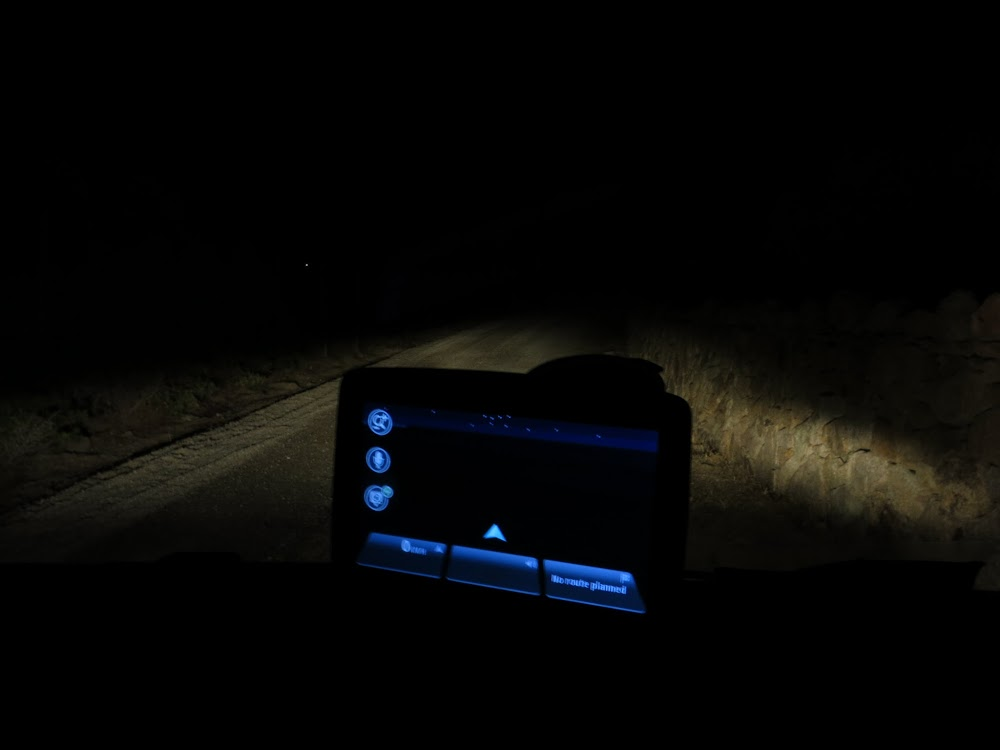 Some of the locations were 'a bit remote'. Even TomTom was left in the dark!