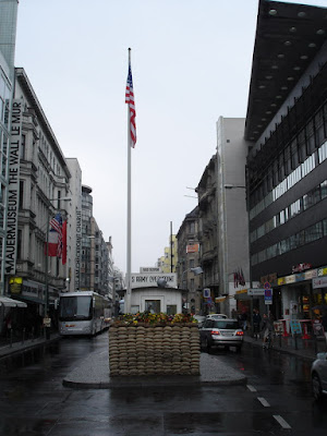 Checkpoint Charlie before the tourist onslaught a few minutes later