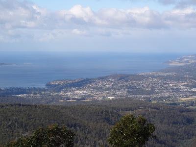 Halfway down Mt Wellington looking South