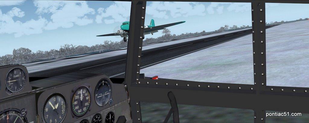 DC-3 takeoff.