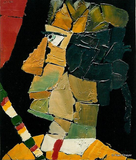 031 - Toréador - 1993 55 x 46 - Acrylique sur toile