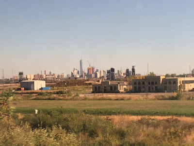 My first view of New York from New Jersey in the train