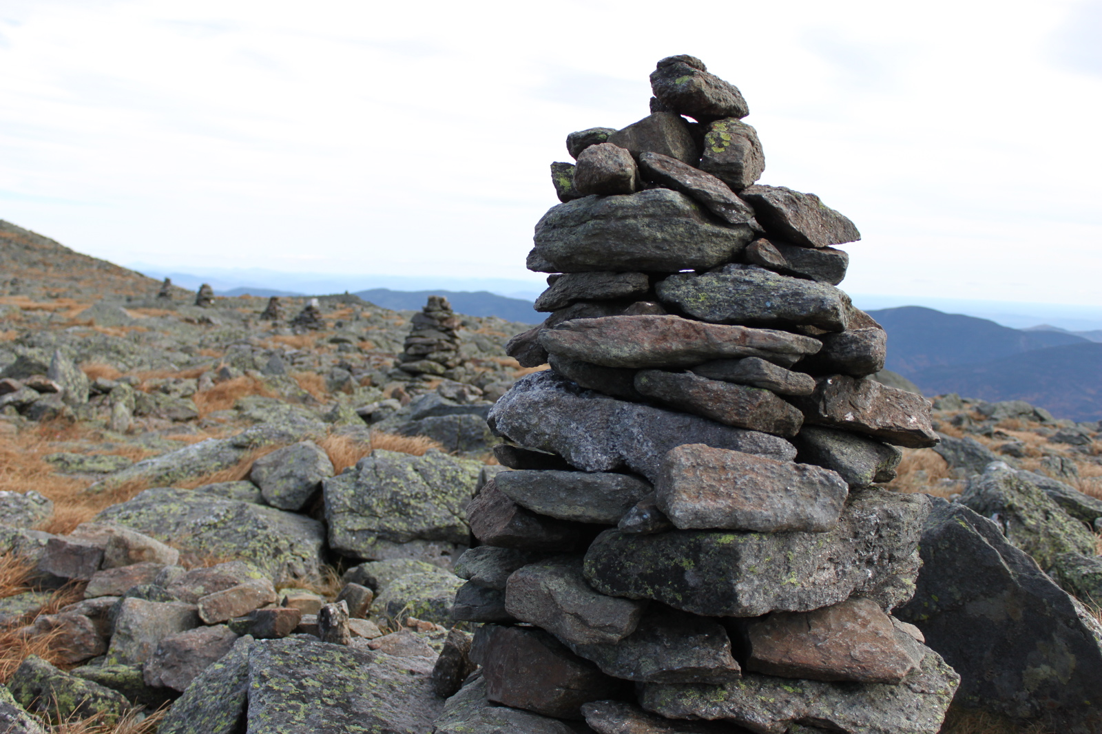 Cairns on the Mount Washington Auto Road - White Mountains, New Hampshire