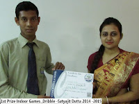1st Prize Indoor Games ,Dribble -Satyajit Dutta 2014 -2015
