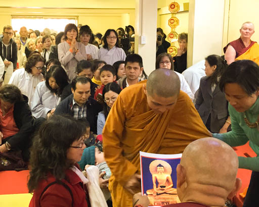 Lama Zopa Rinpoche at Minh Dang Quang Temple, Sydney, Australia, June 2015. Photo by Ven. Roger Kunsang.