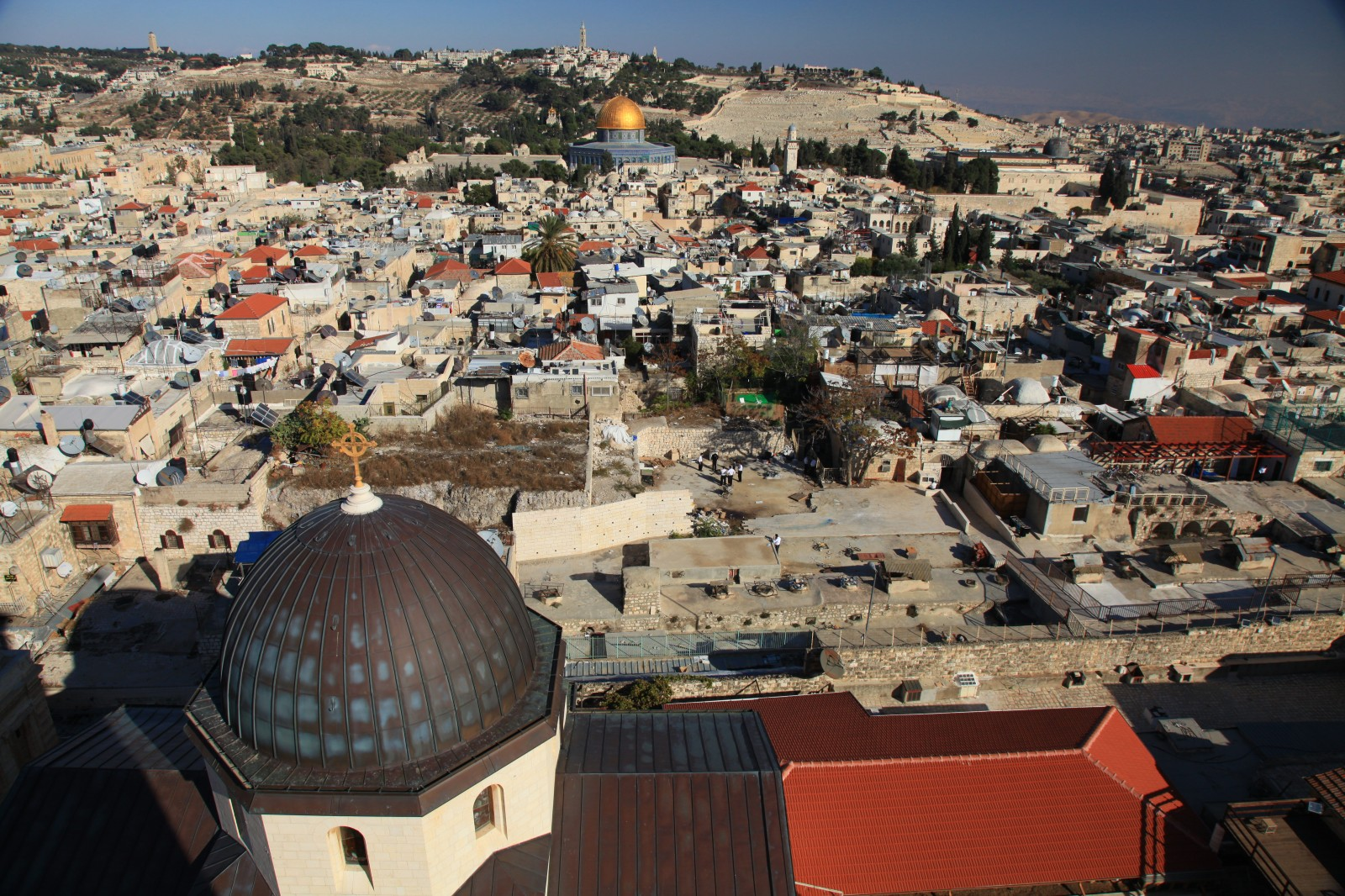 The Protestant church offers one of the best aerial views of the Old City for only 5 shekels