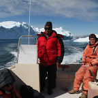 Onboard the boat of a local seal hunter, riding along the fjords
