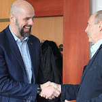 Ondrej Gajdáč Gergely István első edzői közé tartozott. Az ő meghívására jött el a mai napon a sportoló