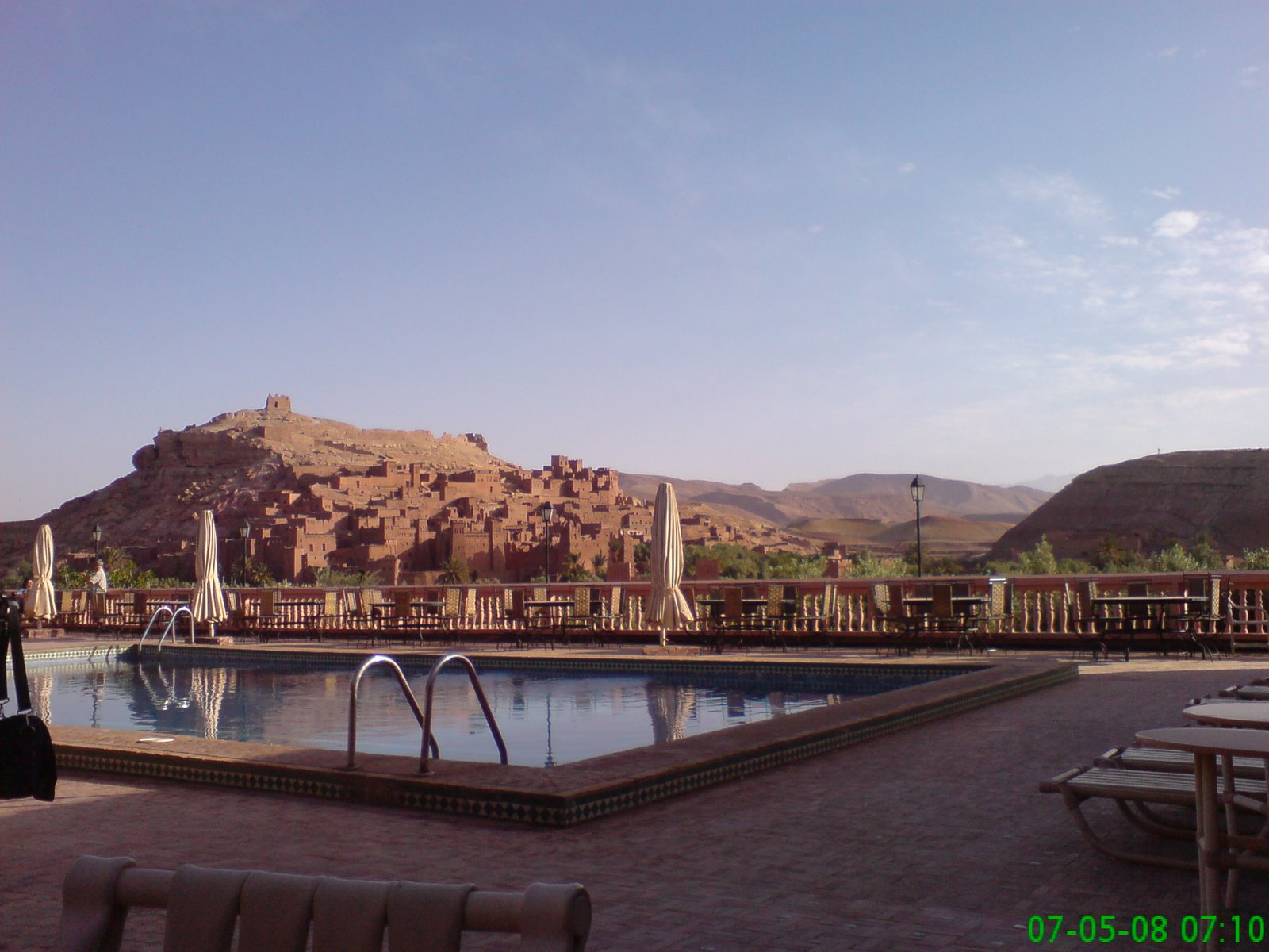 Another breakfast in another hotel with a great view of Ait Benhaddou