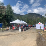 Refreshment and medic tents, Triple Bypass