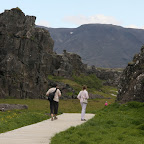 Europe and America are tearing apart at Þingvellir at a pace of 2 cm per year, forming cracks like this one
