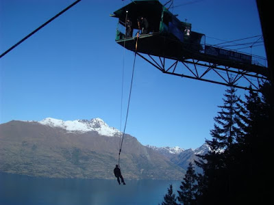Swing bungy at the top