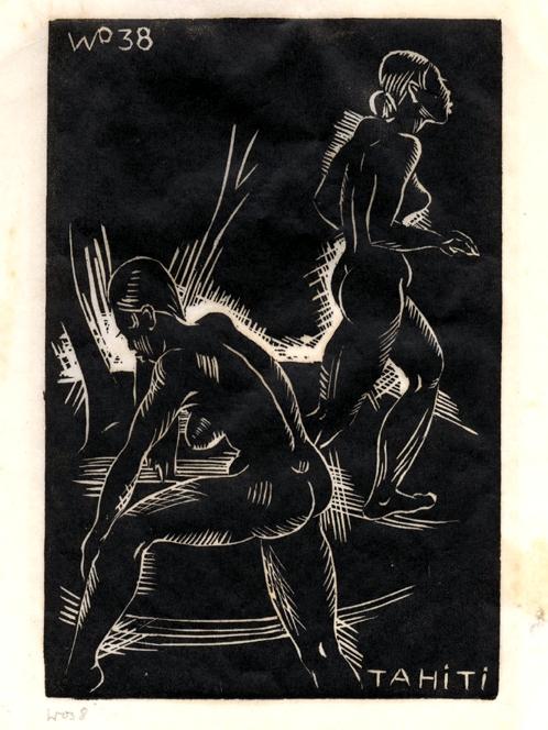 Le Cecelin, woodcut, 1938