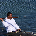 This kind of hand made kayaks and harpoons have been used for centuries for hunting seals and whales