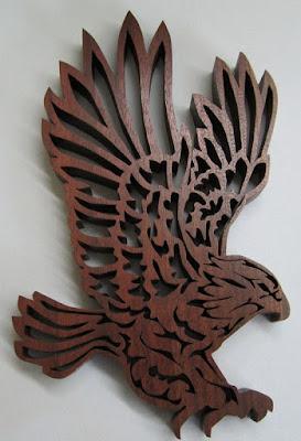 Eagle in Flight by Jacob Fowler  BLACK WALNUT