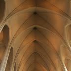 The ceiling of the modernistic Hallgrímskirkja