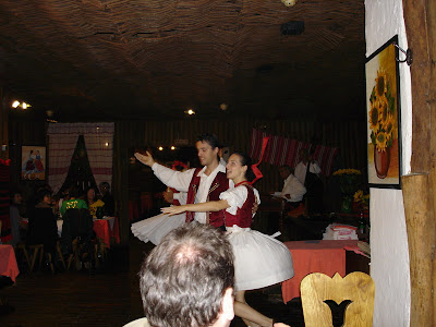 Our dinner in a Gypsy restuarant with some entertainment