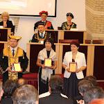 A Rektori Díjat a külföldi kiadónál megjelent tudományos monográfiájáért (balról jobbra): Lévai Attila, Drahota-Szabó Erzsébet és Németh Mária Magdolna vette át
