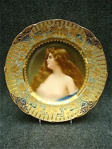 Фарфоровая тарелка XIX век. 24 см.