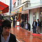 Shopping street in Hopa - Georgians come here for cheap clothes