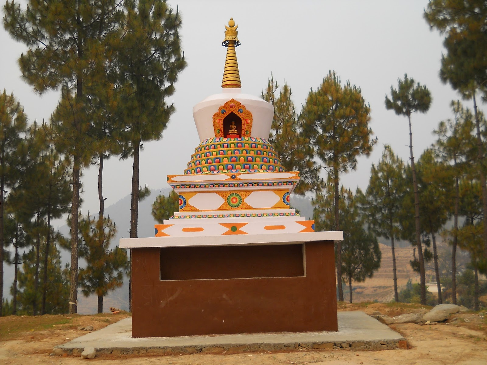 Pepung Stupa (Lotus Stupa), Nuwakot District, Nepal (built by Losang Namgyal Rinpoche)