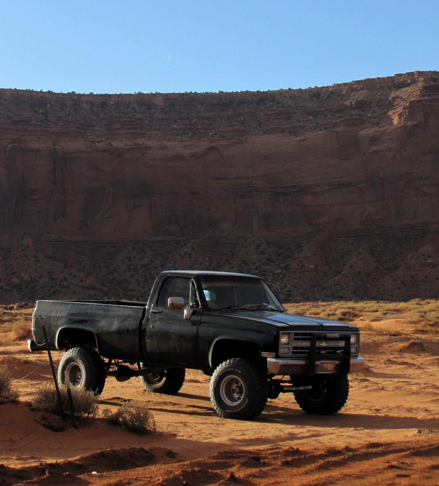 Pickup in Monument Valley, Arizona, 1983 Chevrolet C20