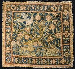 Гобелен XVII век. 39/43 см.