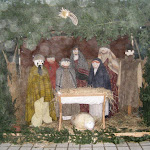 Betlehem a  bodrogszerdahelyi görög katolikus templom udvarán
