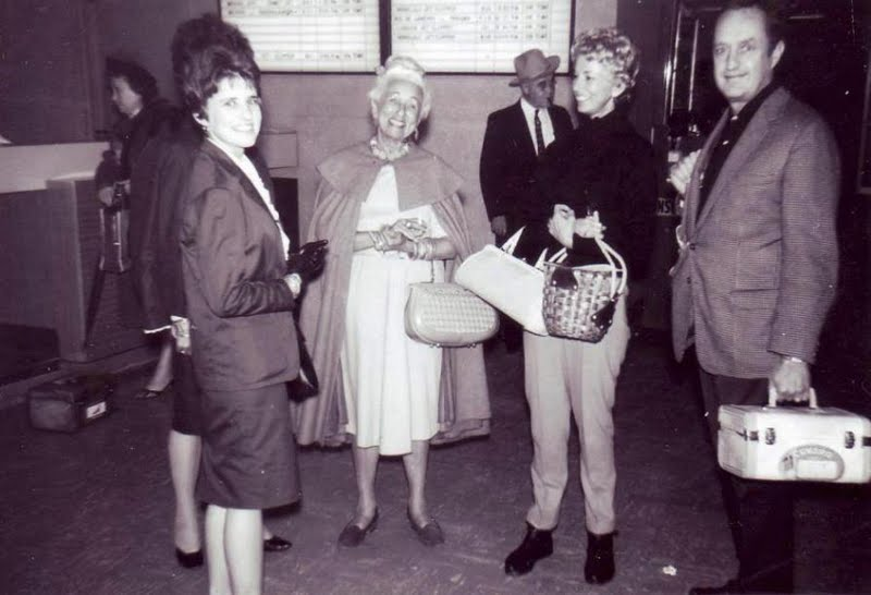 Return from Europe at Los Angeles International Airport (LAX), 1959