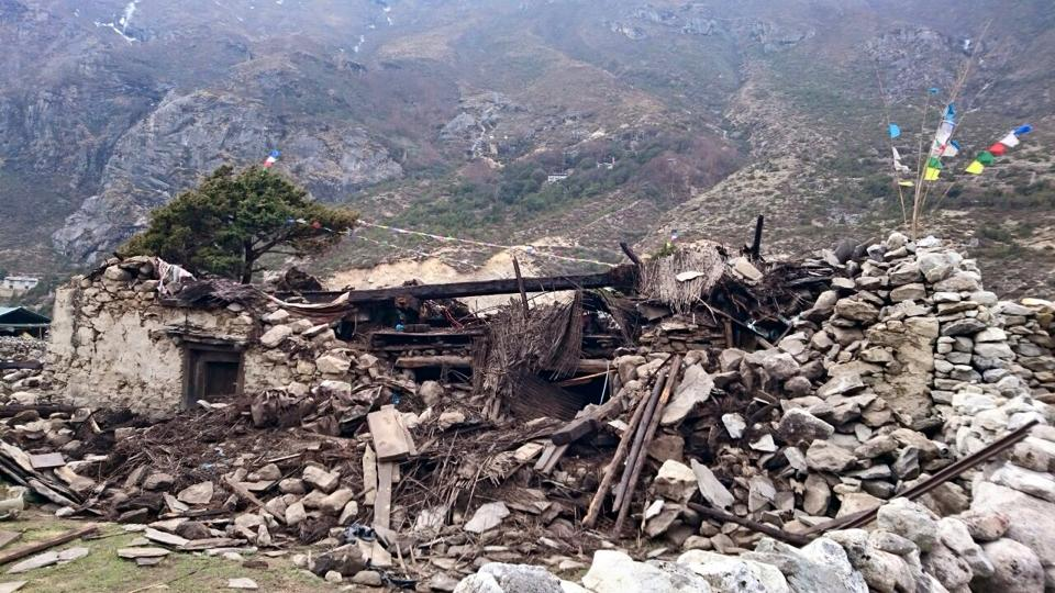 Another residence destroyed in Solu Khumbhu. Photo by Charok Lama.
