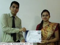 3rd Prize Quiz -Pramit Sengupta 2014 -2015