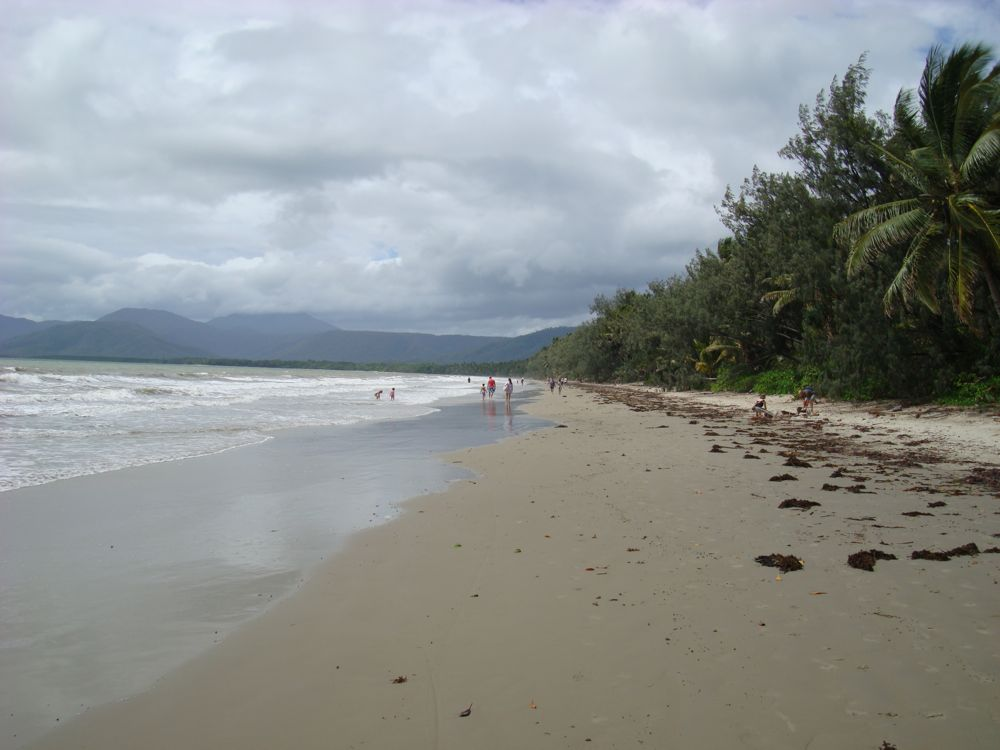 Back on 4 mile beach. This time nearly at high tide