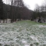 Táborová základna v zimě
