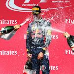 2014 Canada podium: 1. Ricciardo 2. Rosberg 3. Vettel