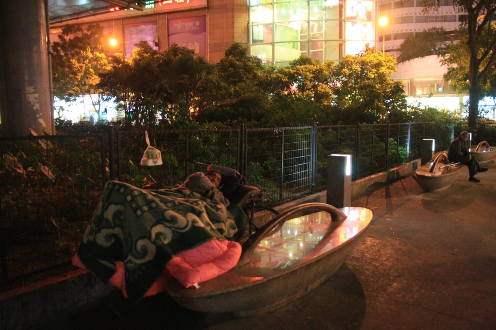 Chinese homeless guys