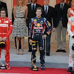 2011 Podium Monaco F1 GP: 1. Vettel 2. Alonso 3. Button