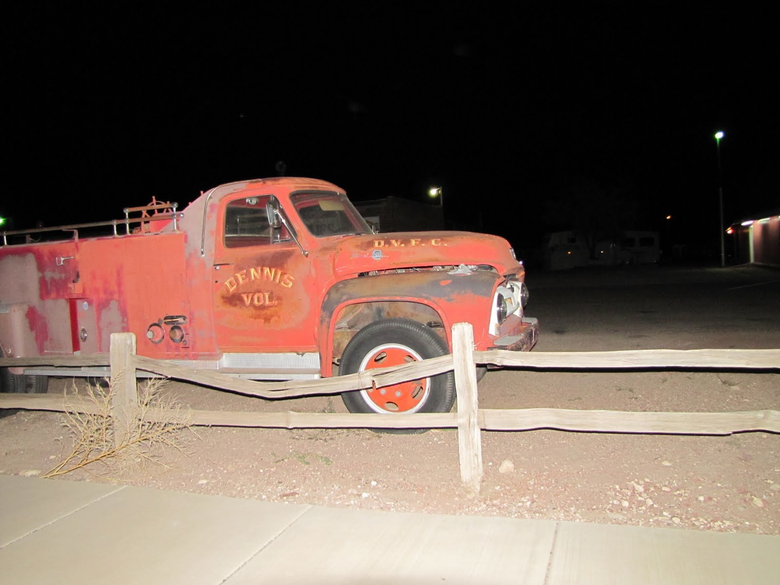 Route 66, Arizona, 1953 Ford F600 Fire Engine