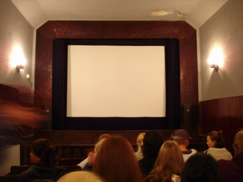 We watched some old properganda films in the original Officers Cinema in the complex